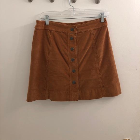 defb5fb2b2 Madewell Skirts | Camel Cord Button Mini Skirt Nwt | Poshmark